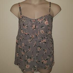 Torrid plus size floral camisole, size 2x 18/20